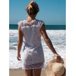 best Scoop Collar Sleeveless See-Through Crochet Tunic