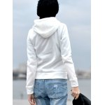 Stylish Hooded Long Sleeve Zippered Slimming Women's Hoodie for sale