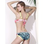 Chic Print Crop Top Two Piece Swimwear For Women photo