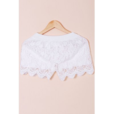 Hook Flower Hollow Out Solid Color Scalloped Shorts