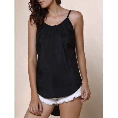 Round Neck Candy Color Tank Top For Women