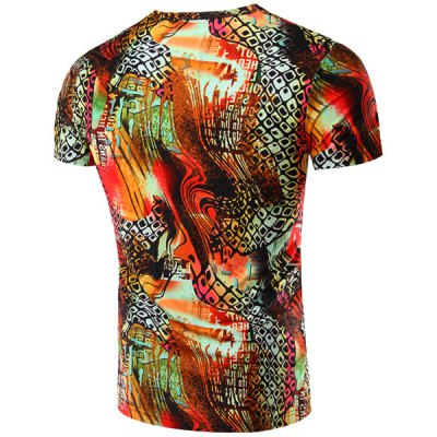 Round Neck Geometric Abstract 3D Print Pattern Short Sleeve T-Shirt For MenMens Short Sleeve Tees<br>Round Neck Geometric Abstract 3D Print Pattern Short Sleeve T-Shirt For Men<br><br>Style: Fashion<br>Material: Cotton,Polyester<br>Sleeve Length: Short<br>Collar: Round Neck<br>Weight: 0.220kg<br>Package Contents: 1 x T-Shirt<br>Embellishment: 3D Print<br>Pattern Type: Geometric