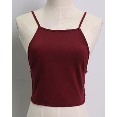 Halter Backless Solid Color Tank Top
