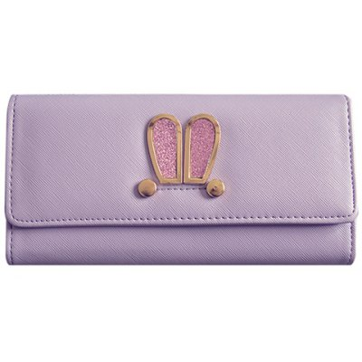 Sweet Metal and Magnetic Closure Design Wallet For Women