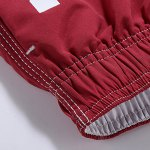 cheap Letters Print Solid Color Lace-Up Straight Leg Shorts For Men
