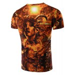 cheap Vogue Round Neck 3D Beauty Print Short Sleeves T-Shirt For Men