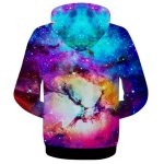 Casual Zip 3D Starry Sky Printed Hoodie For Men for sale
