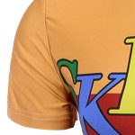 best Round Neck Letter and Cartoon 3D Print Pattern Short Sleeve T-Shirt For Men