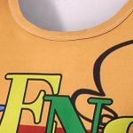 Round Neck Letter and Cartoon 3D Print Pattern Short Sleeve T-Shirt For Men deal