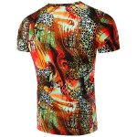 cheap Round Neck Geometric Abstract 3D Print Pattern Short Sleeve T-Shirt For Men