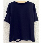 cheap WHAT EVER Print Round Neck Batwing Sleeve Women T-shirt