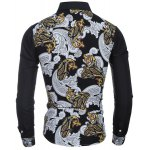 Casual Turn Down Collar National Style Printing Shirt For Men deal