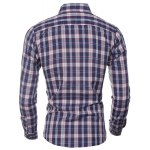 Casual Turn Down Collar Plaid Printing Shirt For Men deal