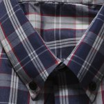 Casual Turn Down Collar Plaid Printing Shirt For Men for sale