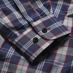 best Casual Turn Down Collar Plaid Printing Shirt For Men
