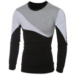 cheap Casual Color Block Long Sleeves T-Shirt For Men