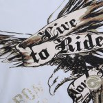 best Stylish Round Neck 3D Eagle Print Short Sleeve T-Shirt For Men