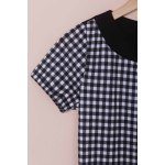 best Stylish Scoop Neck Short Sleeve Plaid Bodycon Dress For Women