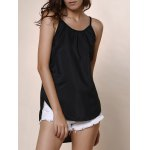 cheap Brief Round Neck Candy Color Tank Top For Women