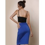 Exquisite Spaghetti Strap Solid Color Tank Top For Women for sale