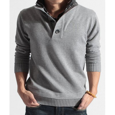 Turn-down Collar Long Sleeves Sweater