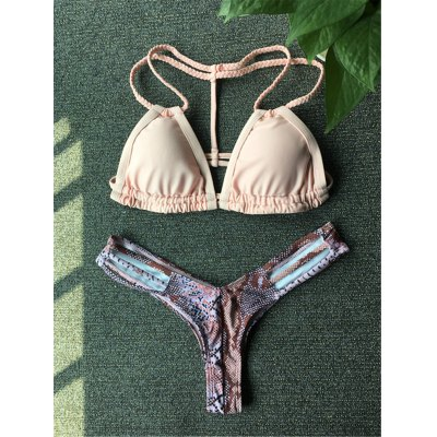 Python Pattern Crochet Bikini Set For Women