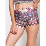 Vintage Multicolored Print Summer Shorts For Women deal