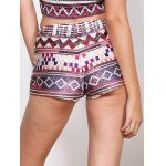 best Vintage Multicolored Print Summer Shorts For Women
