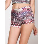 Vintage Multicolored Print Summer Shorts For Women for sale