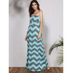 Bohemian Style Strapless Sleeveless Striped Women's Dress deal