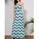 Bohemian Style Strapless Sleeveless Striped Women's Dress