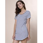 Summer Casual Striped Dress With Sleeves deal