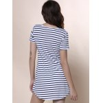 best Summer Casual Striped Dress With Sleeves