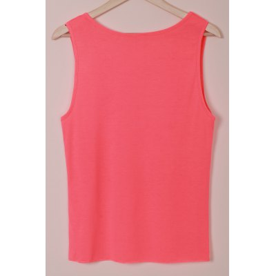 Casual U-Neck Sleeveless Solid Color Women's Tank Top