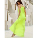 Fashionable Round Collar Solid Color Crumple Sleeveless Women's Maxi Dress deal