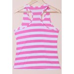 cheap Casual Scoop Neck Striped Sequined Anchor Tank Top For Women