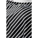 cheap Striped High Waist High Neck Underwire Tankini Bathing Suit