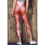 Active High Waist Muscle Printed Bodycon Sport Pants For Women for sale