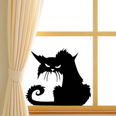 Cartoon Black Cat Pattern Wall StickerWall Stickers<br>Cartoon Black Cat Pattern Wall Sticker<br><br>Feature: Removable<br>Functions: Decorative Wall Stickers<br>Material: PVC<br>Package Contents: 1 x Wall Sticker<br>Size(L*W)(CM): 13.5*14.5CM<br>Theme: Animals<br>Wall Sticker Type: Plane Wall Stickers<br>Weight: 0.078kg