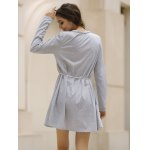 best Casual V-Neck Long Sleeve Loose-Fitting Solid Color Dress For Women