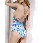 cheap Ethnic Style V-Neck Printed Women's One-Piece Swimwear