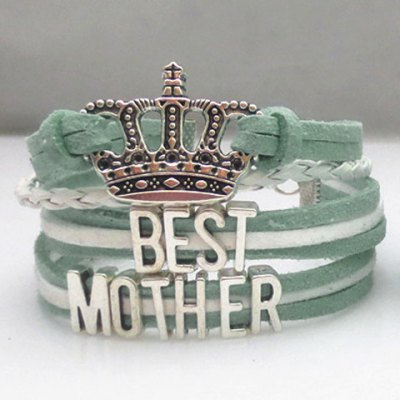 Chic Letter Crown Weaved Layered Friendship Bracelet For Women