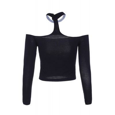Fashionable Off The Shoulder Long Sleeve Crop Top For Women