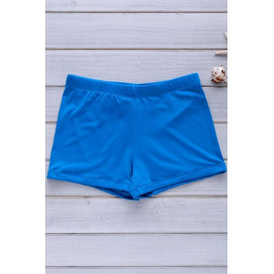 Solid Color Swimming Trunks For Men