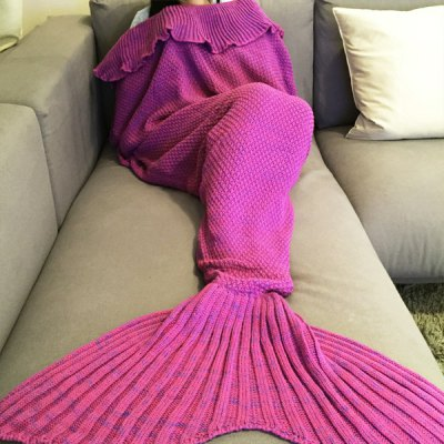 Fashion Comfortable Falbala Decor Knitted Mermaid Design Throw BlanketBedding<br>Fashion Comfortable Falbala Decor Knitted Mermaid Design Throw Blanket<br><br>Material: Cotton<br>Package Contents: 1 x Blanket<br>Pattern Type: Solid<br>Size(L*W)(CM): 190*90CM<br>Type: Knitted<br>Weight: 0.9450kg