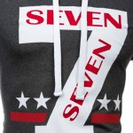 Popular Personality Hooded Star Letters Number Pattern Long Sleeves Hoodie For Men for sale