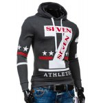 cheap Popular Personality Hooded Star Letters Number Pattern Long Sleeves Hoodie For Men