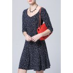 cheap Sweetheart Neck Printed Dress