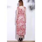 best Bohemian Style Printed Sleeveless Porcelain Maxi Dress For Women