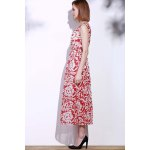 Bohemian Style Printed Sleeveless Porcelain Maxi Dress For Women for sale